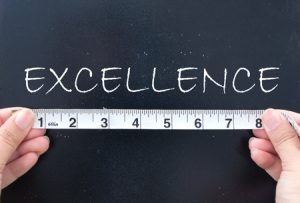 Ruler measuring excellence